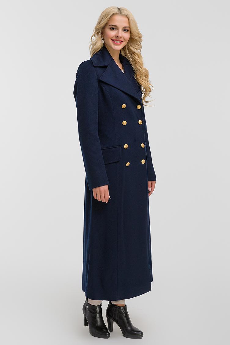 Итальянское длинное приталенное пальто из шерсти фото