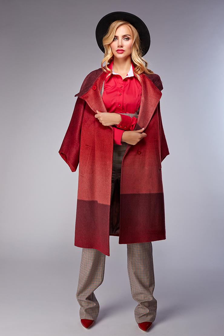 Стильное весеннее кашемировое пальто без меха фото