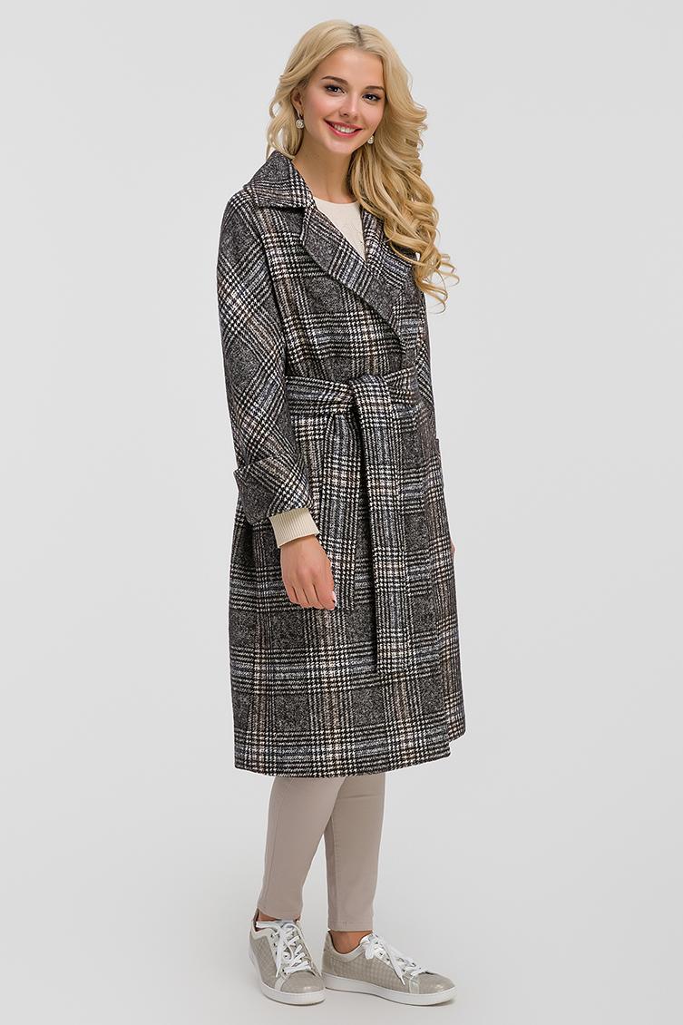 Пальто-халат из Италии с английским воротником на высокий рост фото