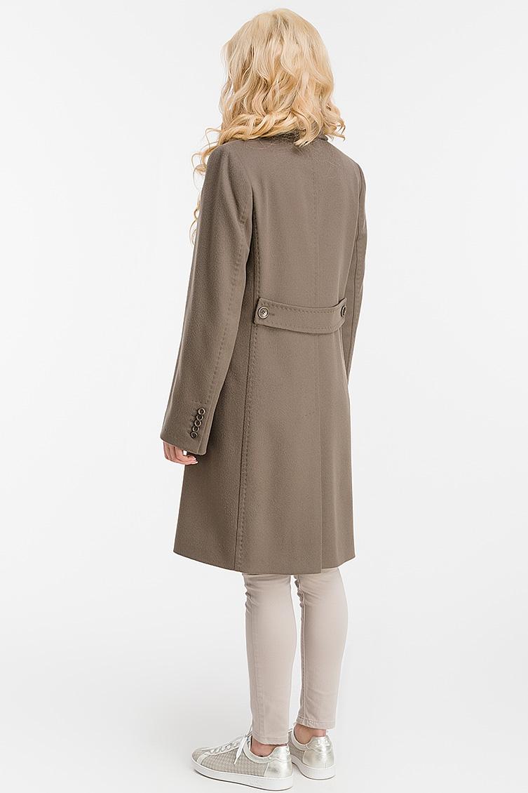 Шерстяное женское пальто с английским воротником фото
