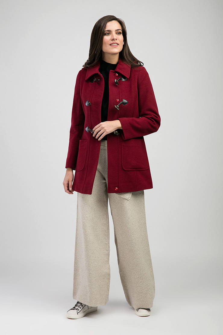 Красное короткое пальто Teresa Tardia из шерсти и кашемира 416410/Т13-красный