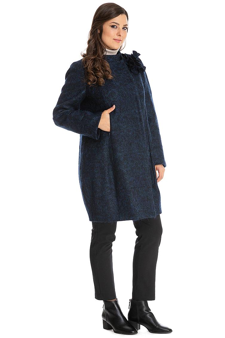 Стильное женское драповое пальто фото