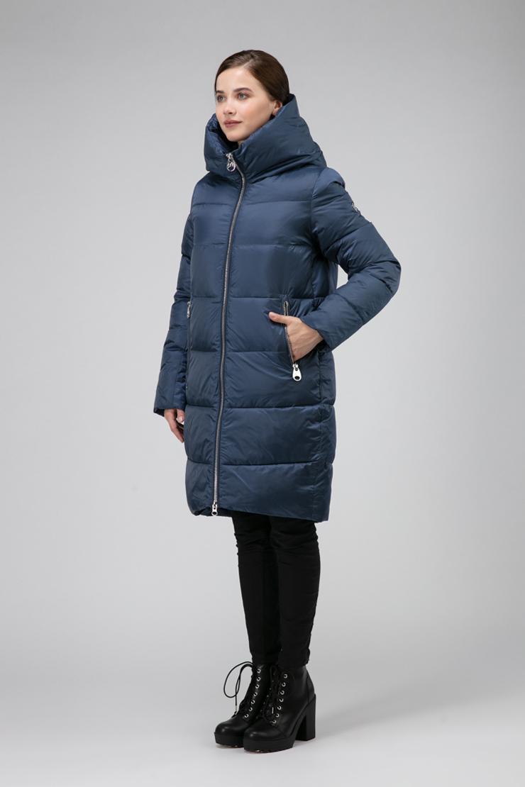 Женское пальто средней длины без меха фото