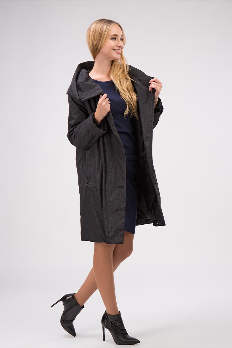 Женское демисезонное финское пальто с капюшоном