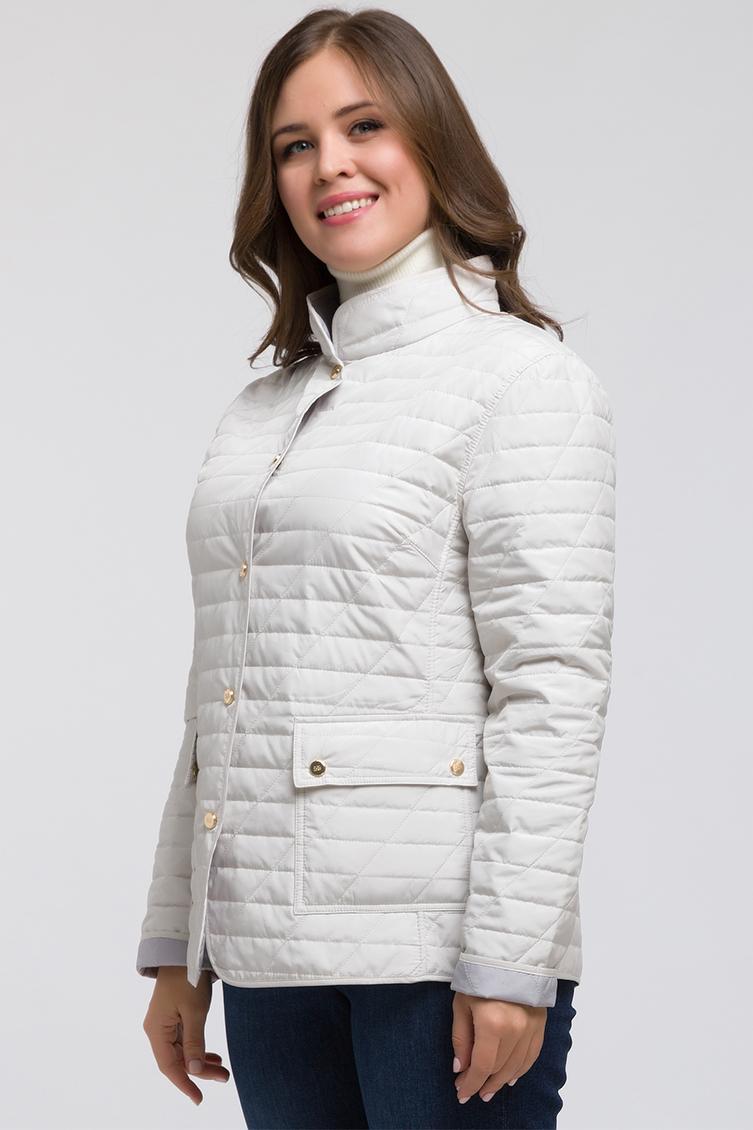 Стеганая весенняя куртка на большой размер фото