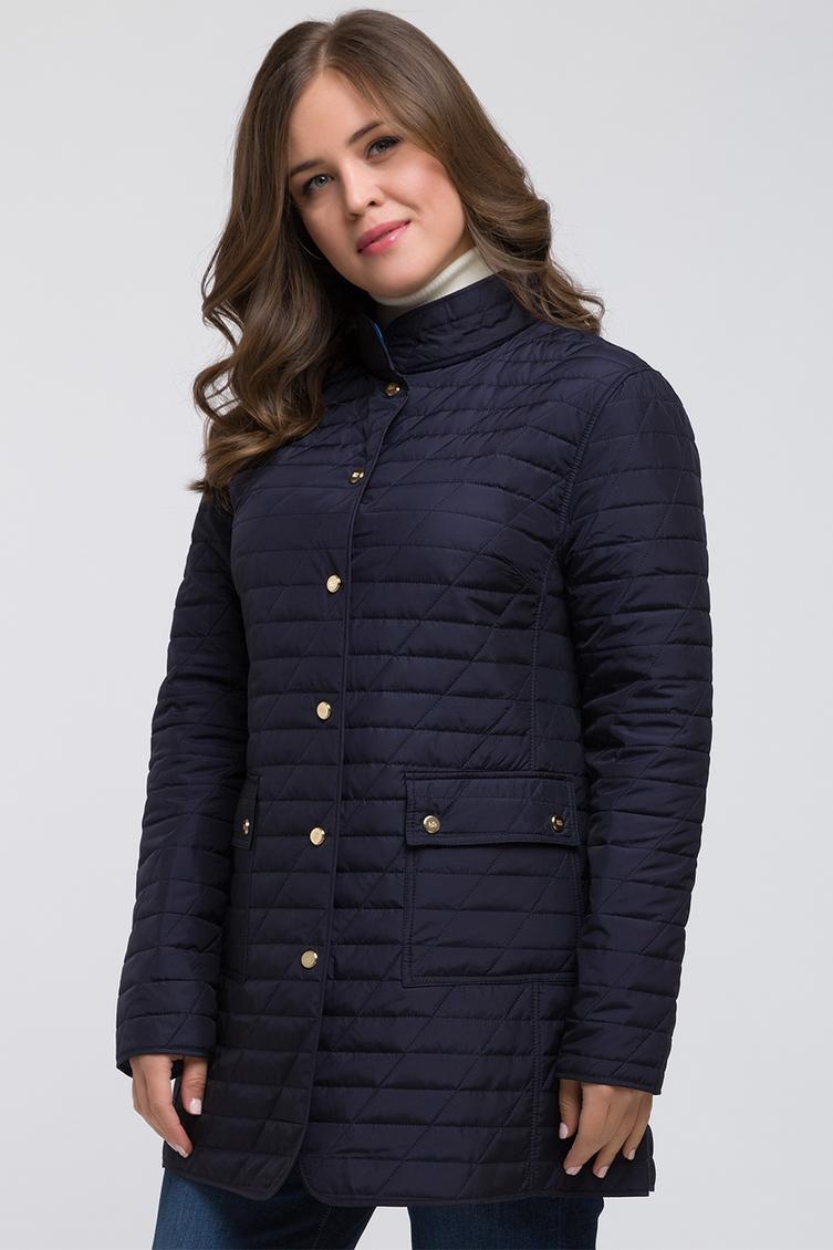 Длинная полуприталенная куртка для большого размера фото