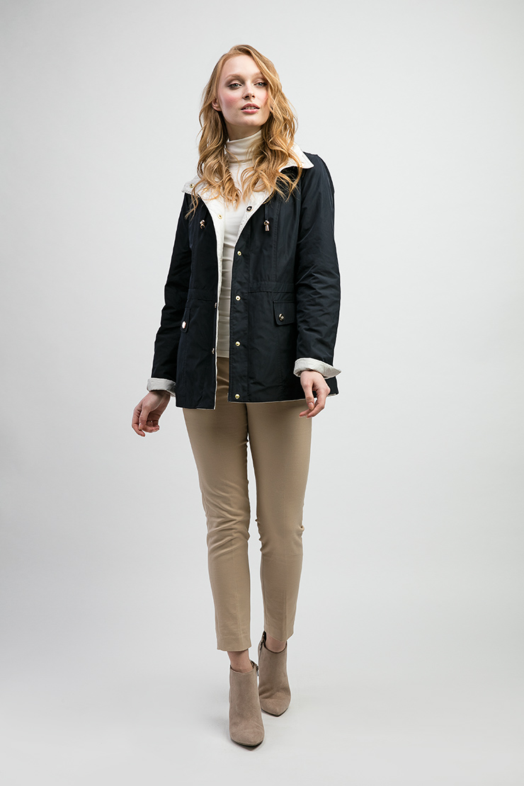 Двусторонняя куртка сине-белого цвета Dixi Coat 6450/D01-сине-белый