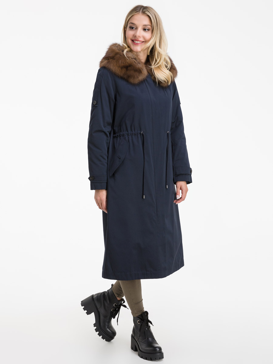 Стильное зимнее пальто из Италии на меху кролика фото