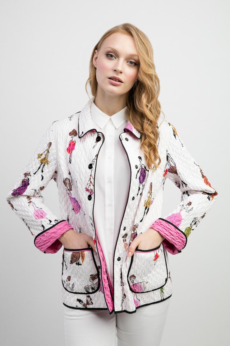 Модная женская стеганая куртка с накладными карманамиКуртки<br>Модная женская стеганая куртка с накладными карманами<br>Цвет: белый; Размер: 50; Состав: 100% полиэстер; подкладка - 100% полиэстер; Материал: 100% полиэстер; подкладка - 100% полиэстер;