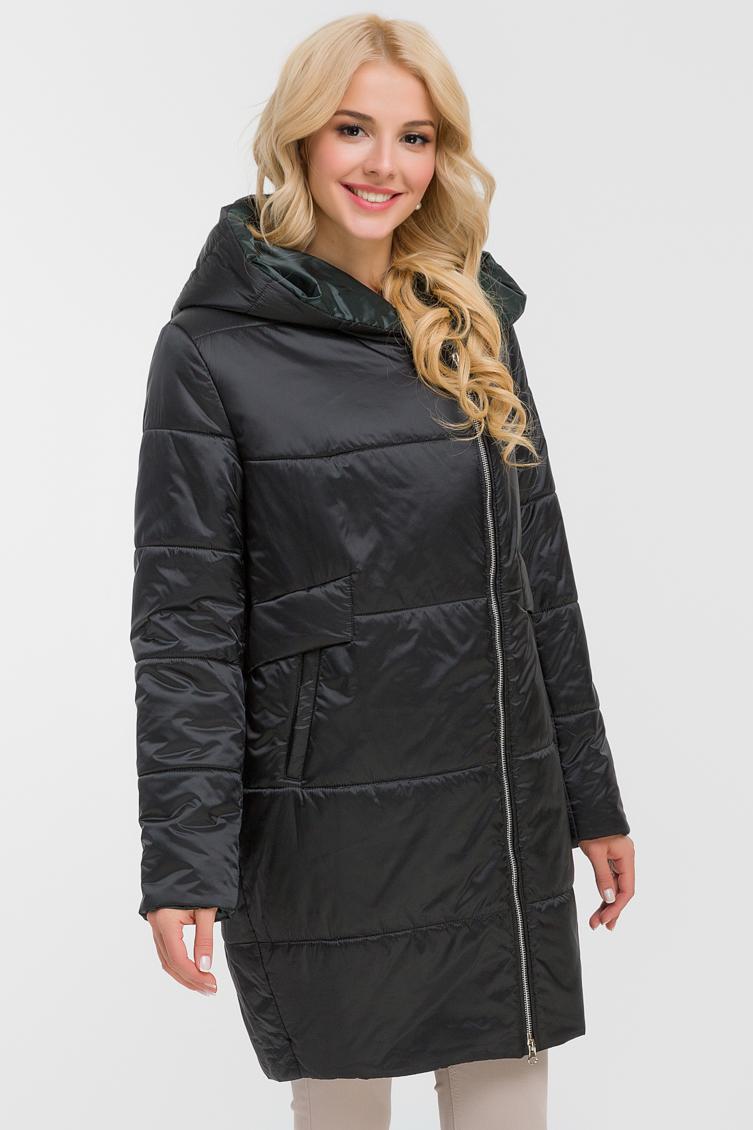 Женское осеннее пальто с капюшоном фото