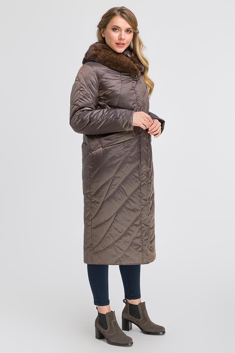 Стильное демисезонное длинное пальто на верблюжьей шерсти фото