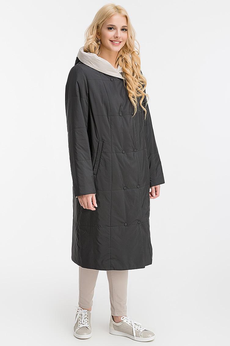 Весеннее двустороннее длинное пальто с капюшоном фото