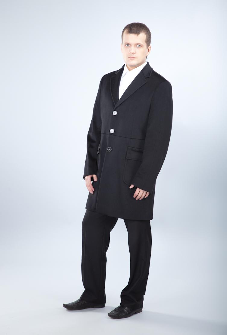 Черное пальто поло Teresa Tardia 71016/T23-черный