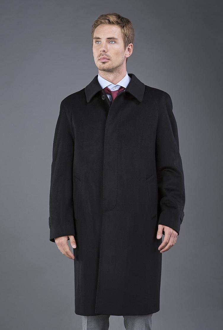Удлиненное мужское пальто Teresa Tardia черного цвета 72706/T21-черный