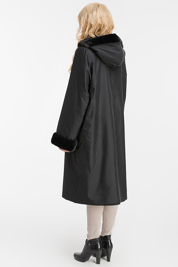Женское шелковое пальто на кроличьей подкладке фото
