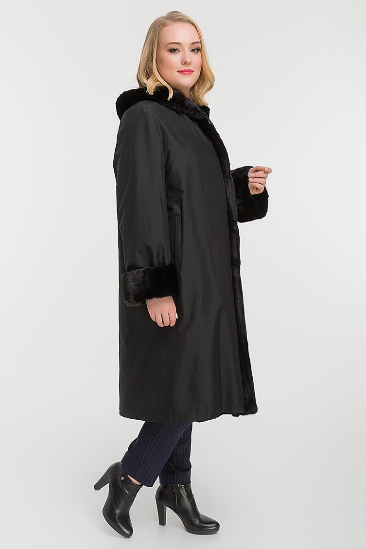 Утепленное пальто на зиму для большого размера фото