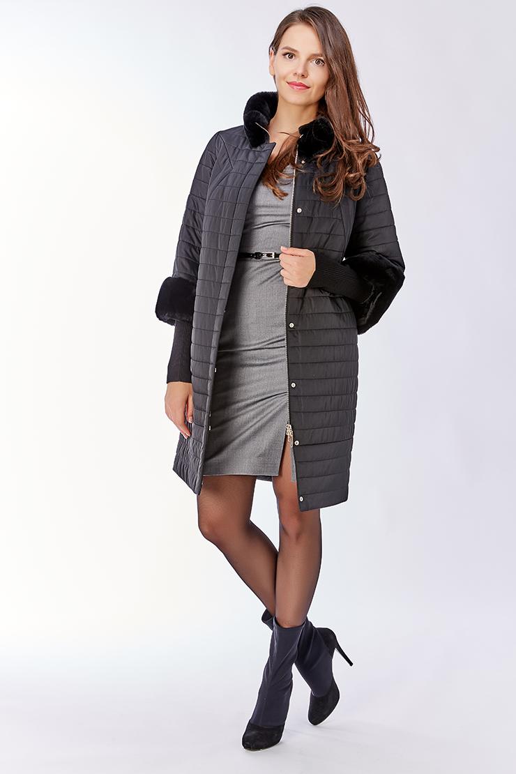 Пальто средней длины с мехом на верблюжьей шерстиПальто<br>Пальто средней длины с мехом на верблюжьей шерсти<br>Цвет: черный; Размер: 50; Состав: 100% п/э, подкладка 100% п/э, наполнитель - верблюжья шерсть, отделка - кролик; Материал: 100% п/э, подкладка 100% п/э, наполнитель - верблюжья шерсть, отделка - кролик;