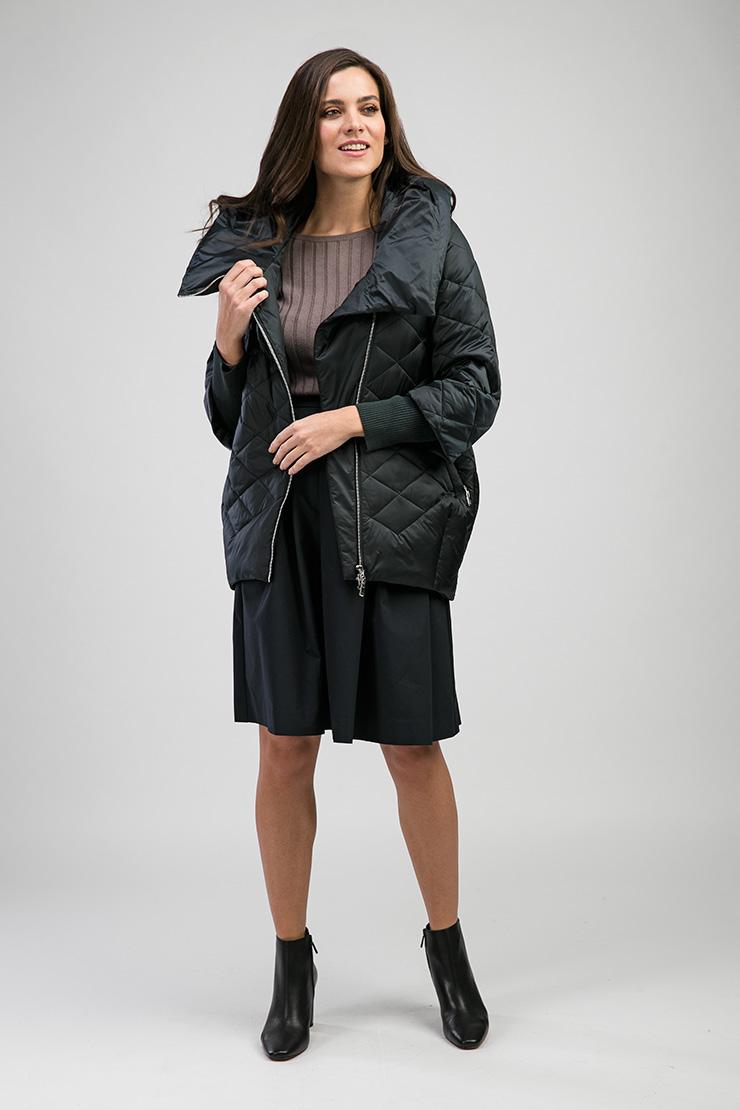 Женская стеганая куртка модного О-силуэта Альбана 7775-1/A02-зеленый