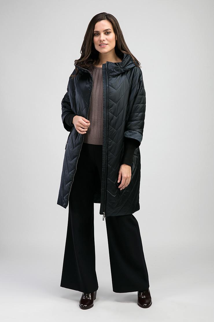 Стеганое пальто на синтепоне Альбана 7949/A01-синий
