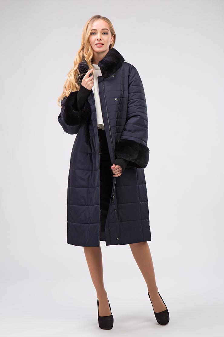 Классическое женское демисезонное пальто на верблюжьей шерстиПальто<br>Классическое женское демисезонное пальто на верблюжьей шерсти<br>Цвет: синий; Размер: 44, 46, 48, 50, 52, 54, 56, 58, 60; Состав: 100% полиэстер; подкладка - 100% полиэстер; утеплитель-50%верблюжья шерсть, 50% полиэстер; меховая отделка-кролик; Материал: 100% полиэстер; подкладка - 100% полиэстер; утеплитель-50%верблюжья шерсть, 50% полиэстер; меховая отделка-кролик;