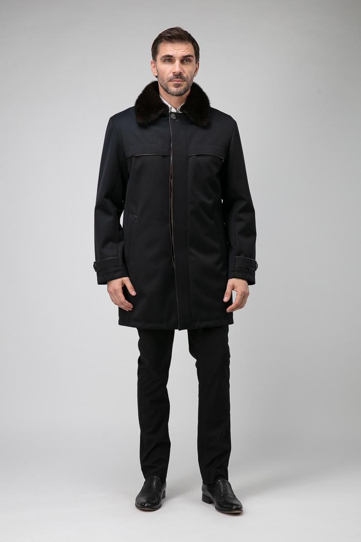 Мужская длинная куртка из 100% шерсти с мембранойКуртки<br>Мужская длинная куртка из 100% шерсти с мембраной<br>Цвет: черный; Размер: 50, 52, 54; Состав: 100% шерсть с мембраной; подкл. - 50% вискоза, 50% п/э; синтепон. Подстежка: 100% шерсть; наполнитель - гусиный пух 80/20. Мех - норка натуральная; Материал: 100% шерсть с мембраной; подкл. - 50% вискоза, 50% п/э; синтепон. Подстежка: 100% шерсть; наполнитель - гусиный пух 80/20. Мех - норка натуральная;