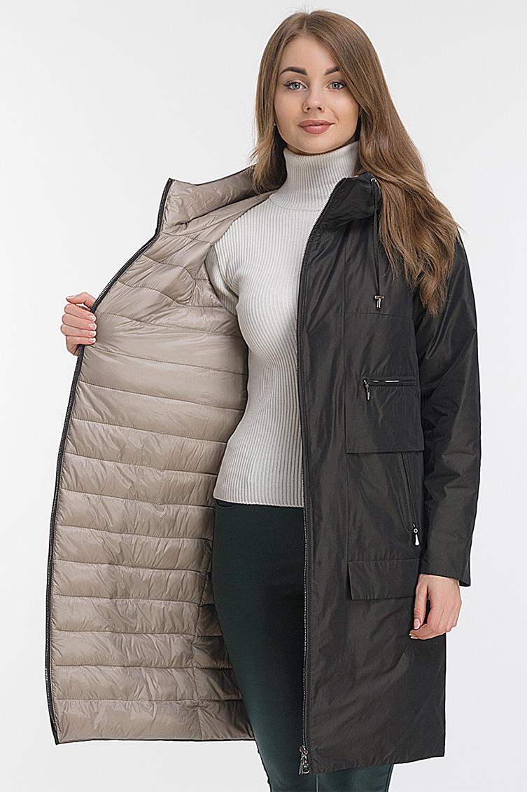Женское пальто кокон с капюшоном Албана фото