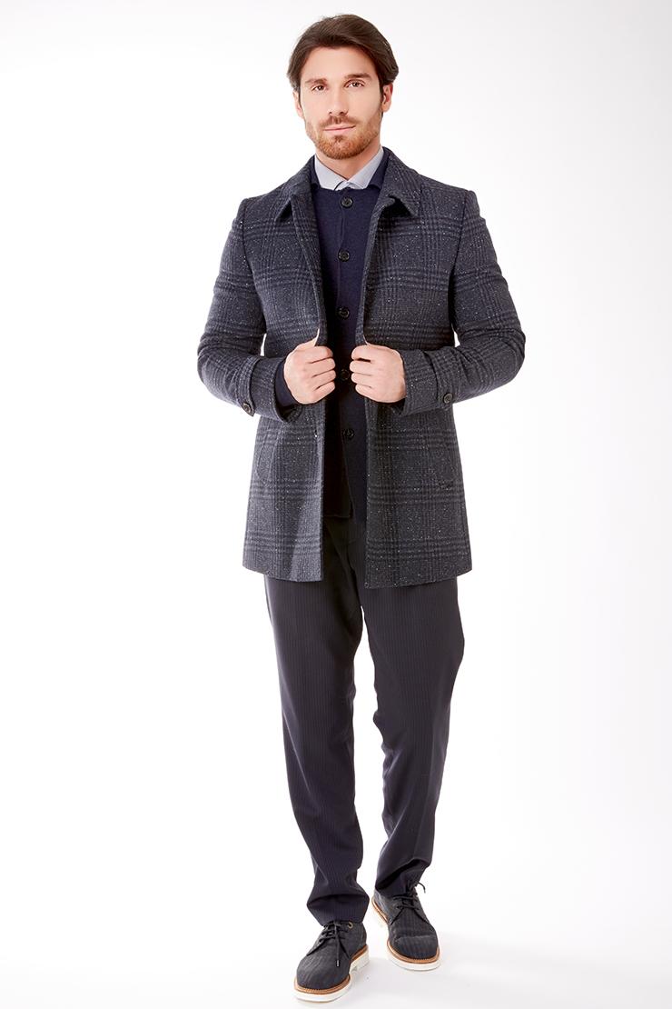 Пальто пиджачного кроя Teresa Tardia из шерсти 836201/Т32-черный