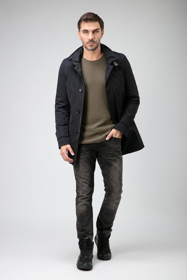 Полуприталенное итальянское короткое пальто для мужчин фото