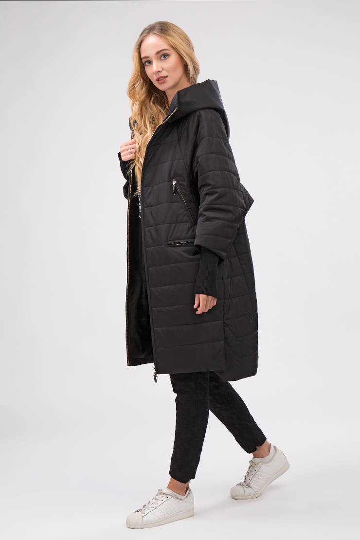 Демисезонное женское пальто на верблюжьей подкладке