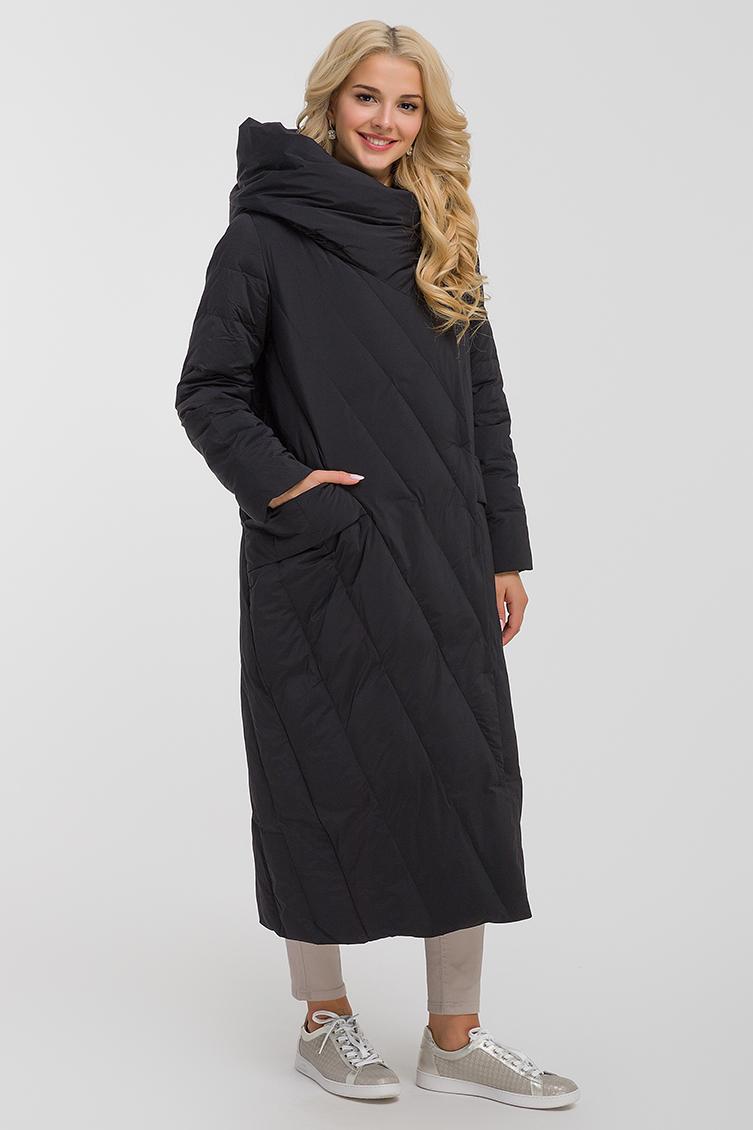 Купить со скидкой Длинное пуховое пальто с капюшоном