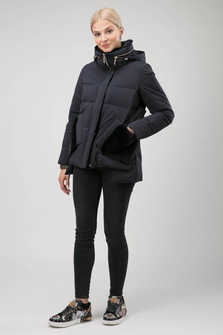 Модная пуховая куртка с кроликом