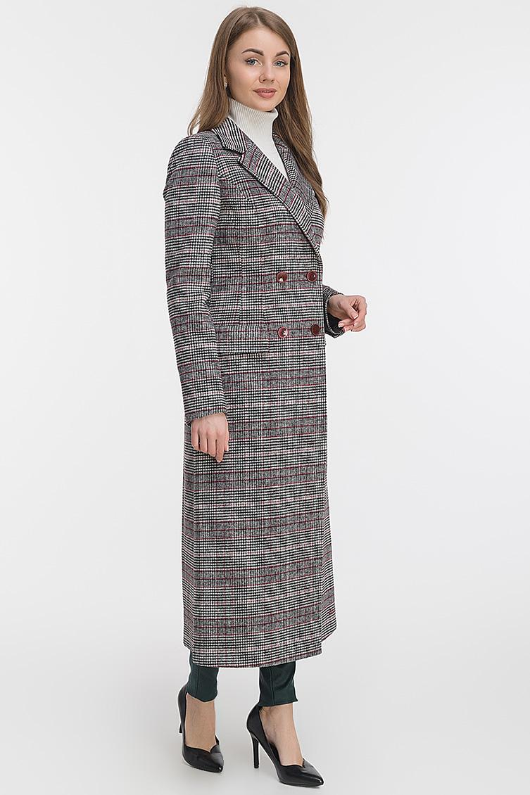 Классическое приталенное длинное пальто из шерсти фото