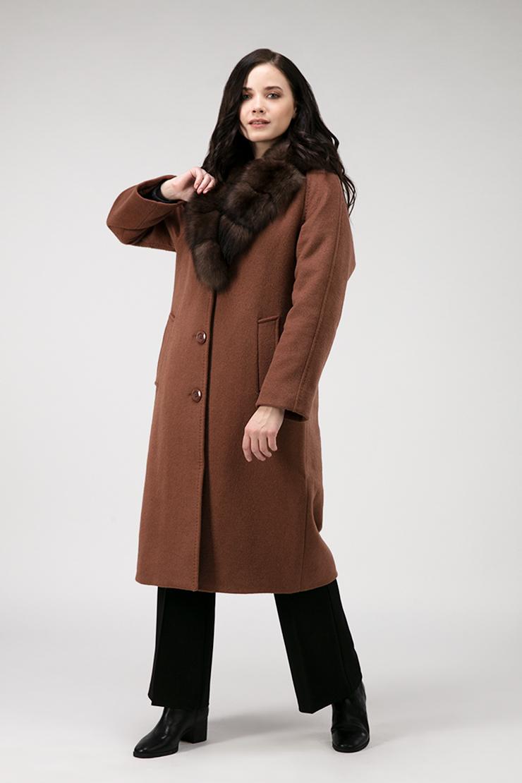 Утепленное пальто реглан из шерсти на осень фото