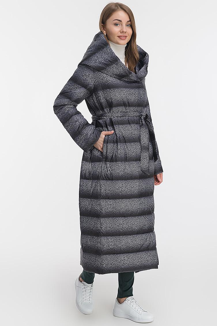 Длинное пальто осень-зима с капюшоном фото