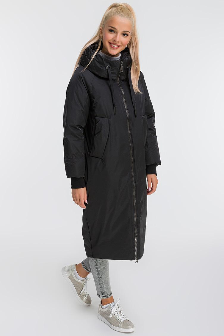 Длинное пальто О-силуэта осень-зима