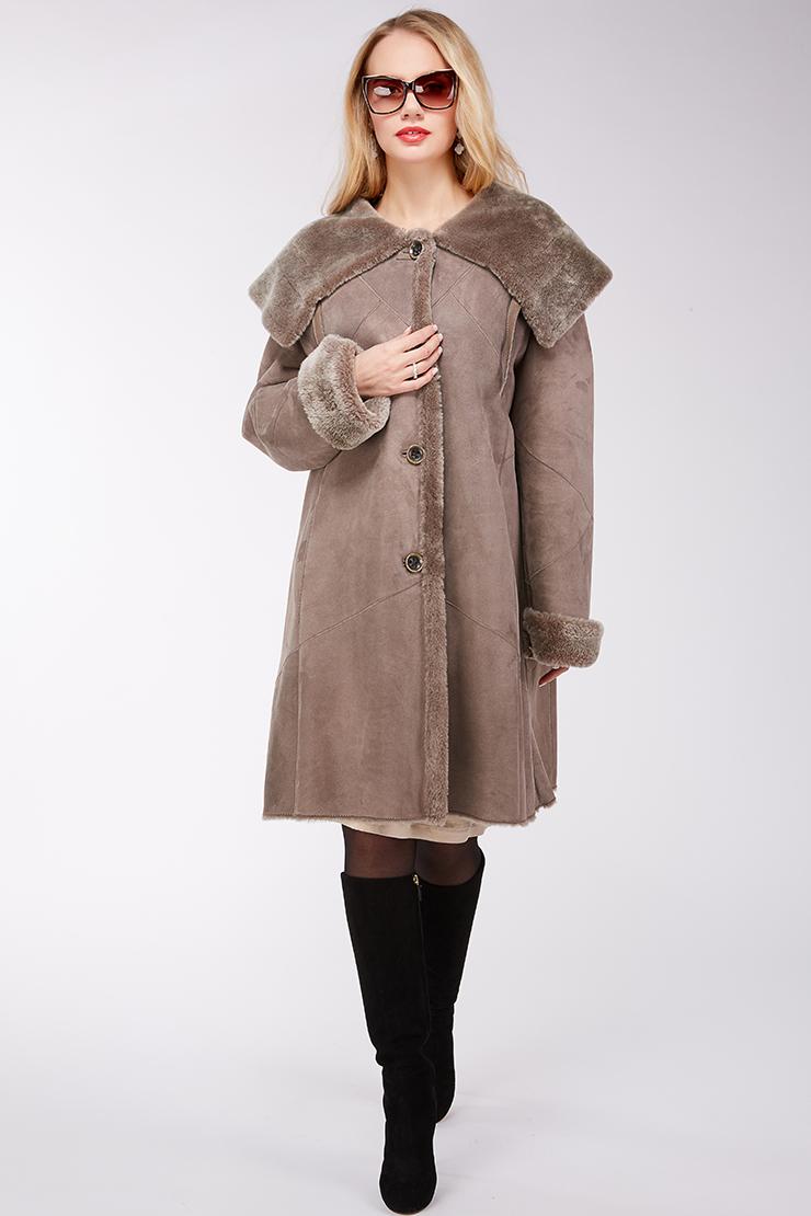 Модная женская дубленка из натуральной овчины