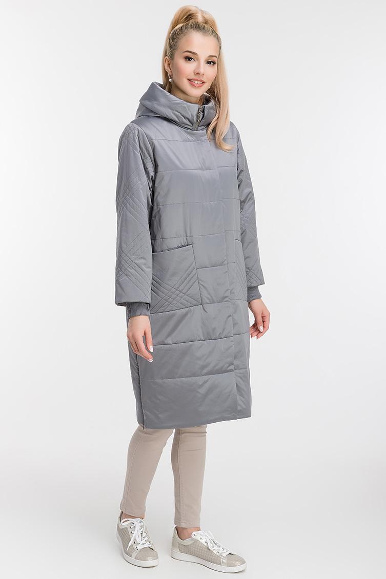 Длинное стеганое пальто для женщин фото