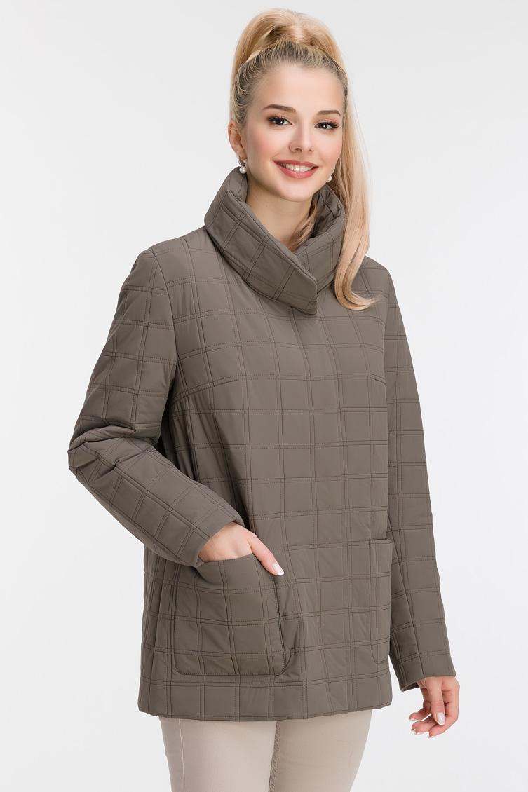 Весенняя куртка с воротником-стойкой фото