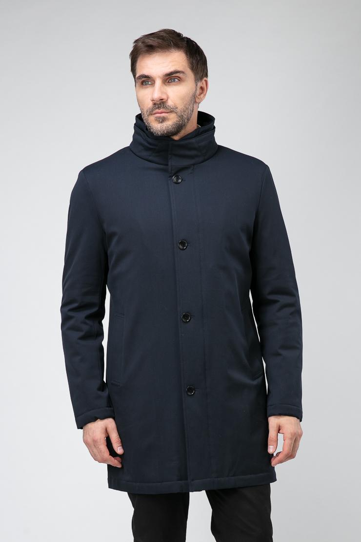 Весеннее мужское пальто полуприталенного кроя фото