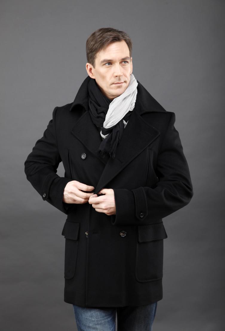 Черное пальто-бушлат Teresa Tardia 98102/T23-черный