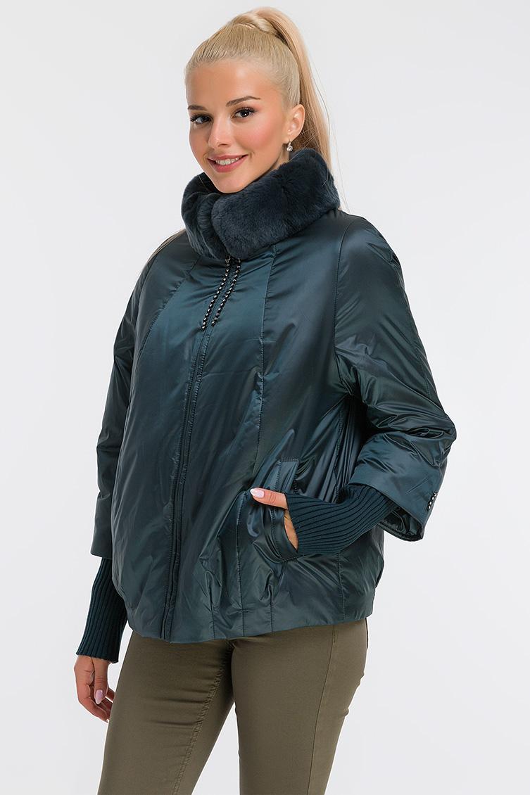 Женская демисезонная утепленная куртка из Италии фото