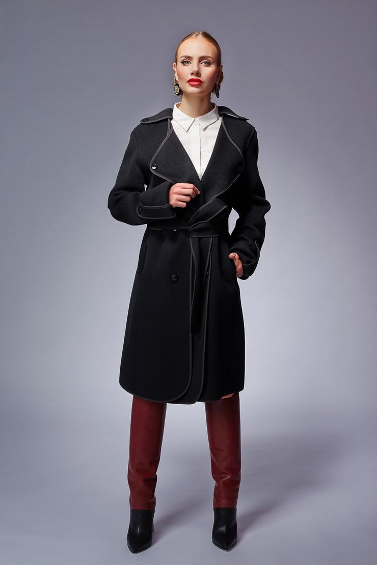 Стильное шерстяное пальто Rolf SchulteПальто<br>Стильное шерстяное пальто Rolf Schulte<br>Цвет: черный; Размер: 44; Состав: 100% шерсть; Материал: 100% шерсть;