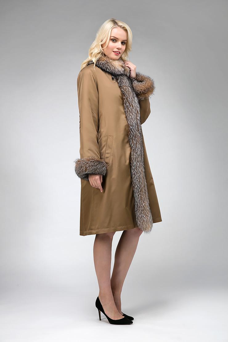 Женское зимнее пальто утепленное мехом фото