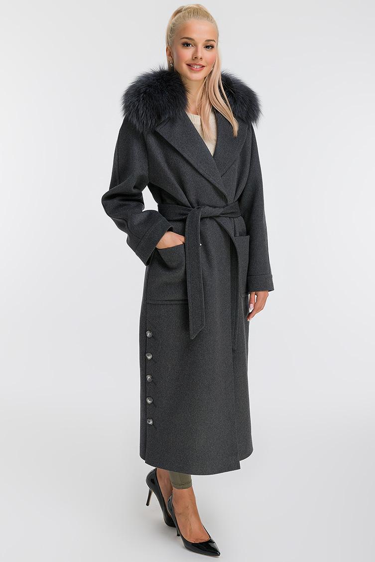 Пальто оверсайз из шерсти в рукавом реглан