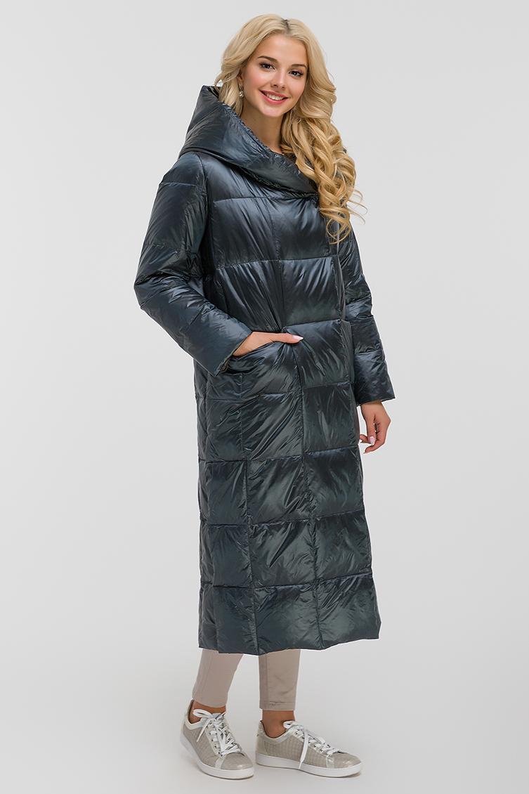 Женский длинный модный пуховик для зимы фото