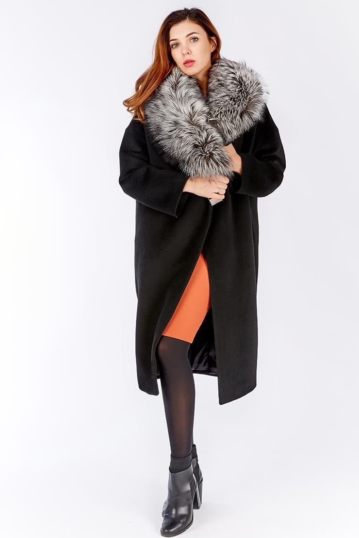 Пальто из шерсти модного О-силуэта Dolce Moda BELUCI/B01-черный