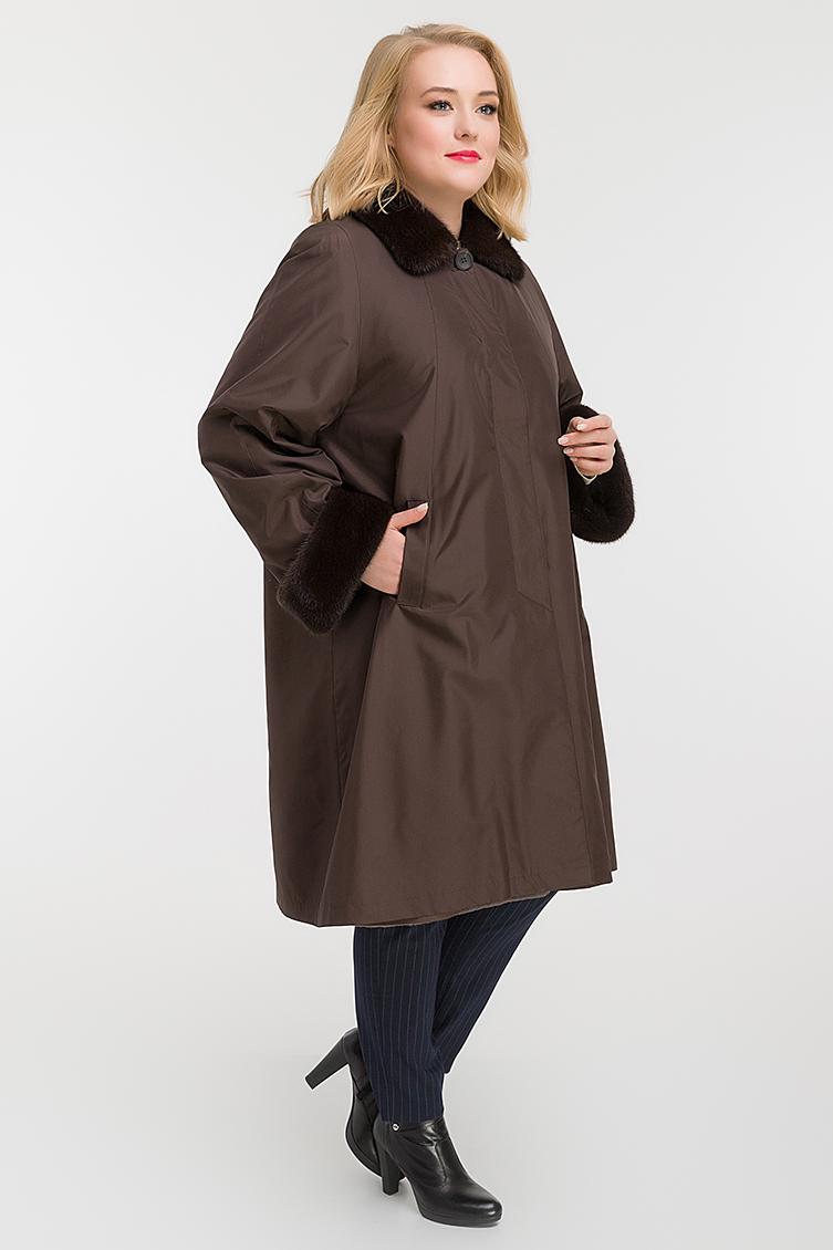 Женское теплое пальто на большой размер фото