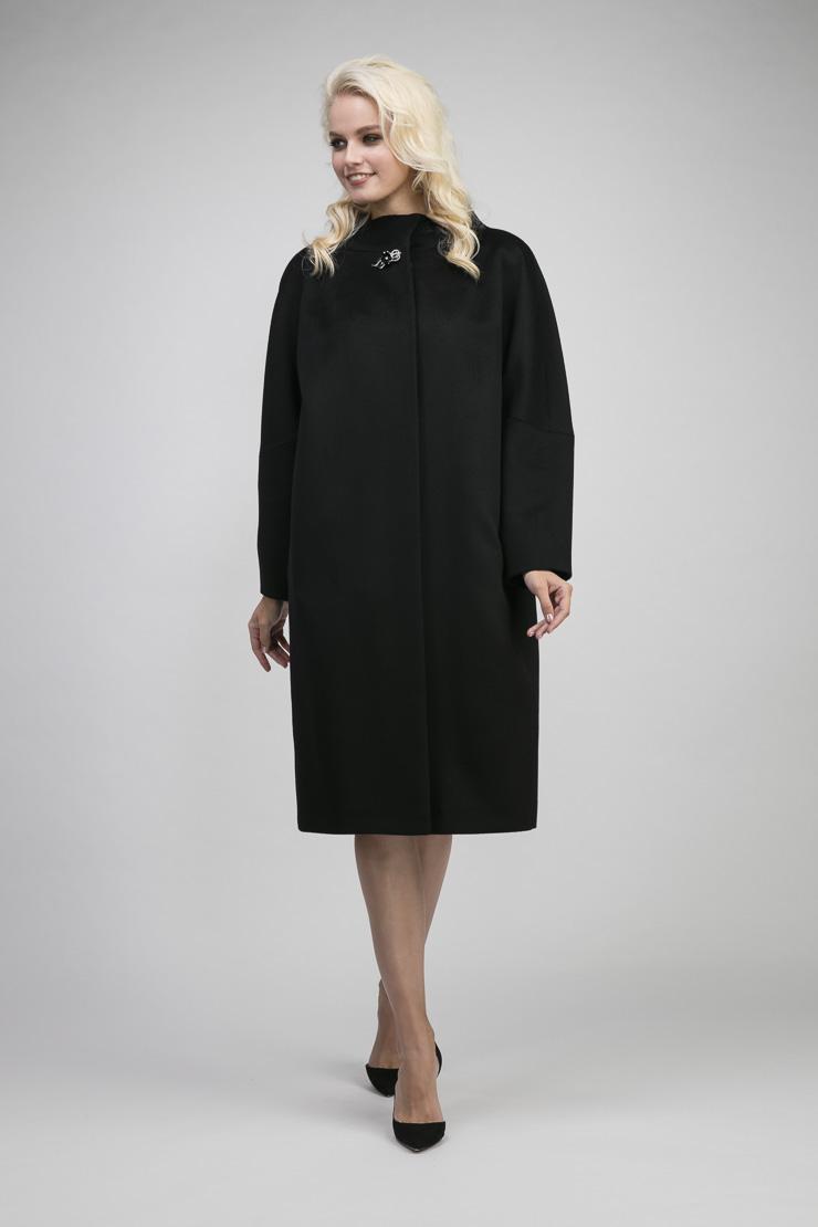 Купить со скидкой Осеннее шерстяное пальто реглан без меха на большой размер