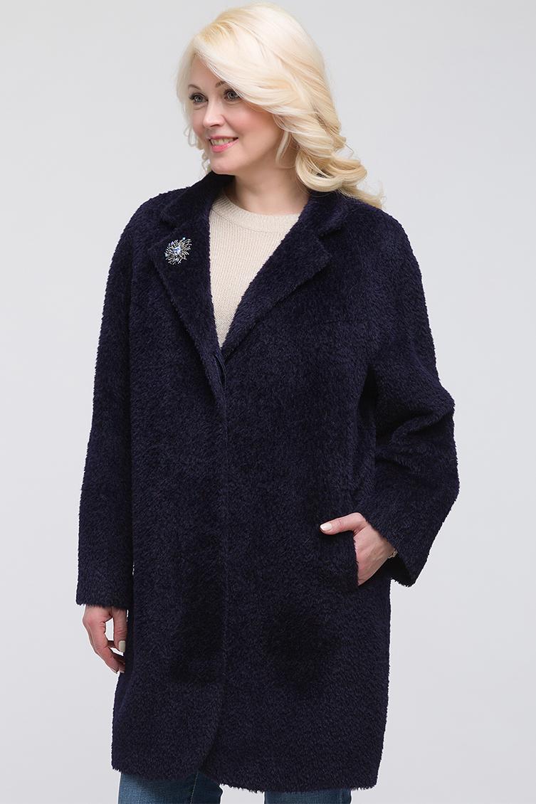 Демисезонное женское пальто из сури альпака фото