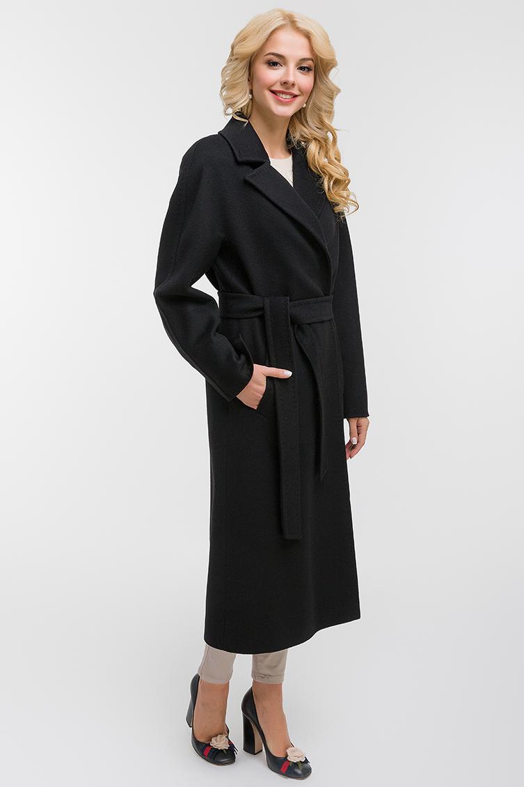 Длинное классическое пальто с английским воротником